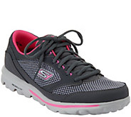 As Is Skechers GOwalk lace-up Lightweight Sneakers -Verve - A283524