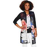 Susan Graver Printed Sheer Chiffon Vest Set - A289424