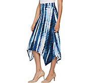 LOGO by Lori Goldstein Handkerchief Hem Printed Skirt - A290224