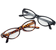 As Is Tashon Progressive Cat Eye Readers Set of 2 Strength 3.0 - A290324
