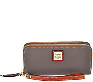 Dooney & Bourke Pebble Leather Double Zip Wallet - A297524