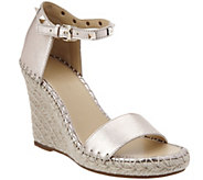 As Is Marc Fisher Leather Espadrille Wedges - Kicker - A300324