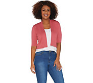 Isaac Mizrahi Live! Essentials Elbow Sleeve Cardigan - A303524