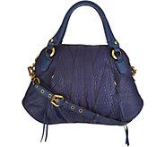 As Is orYANY Lamb Leather Satchel Handbag -Trina - A303924