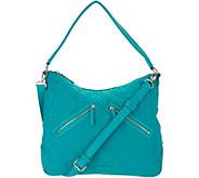 Vera Bradley Microfiber Vivian Zip Top Hobo Handbag - A304124