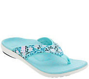 Spenco Orthotic Thong Sandals - Yumi Bloom - A345224