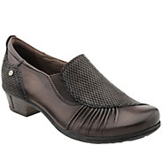 Earth Leather Slip-on Shoes - Dorado - A356124