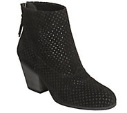 Aerosoles Suede Perforated Ankle Boots - VitalSign - A356324
