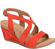 Comfortiva by Softspots Suede Wedge Sandals - Vandy - A358524