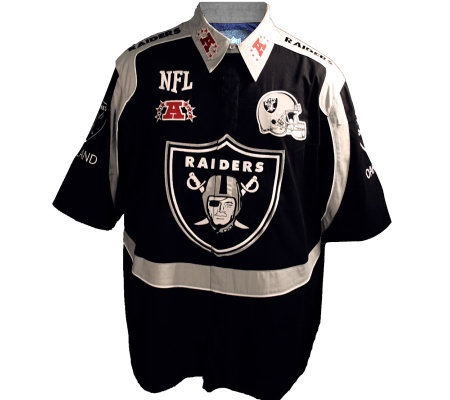NFL Oakland Raiders Endzone Button-Up Shirt