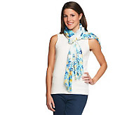 Collection 18 Dancing Daisies Scarf with Fringe - A231925