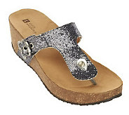 White Mountain Kingpin Thong Wedge Sandals - A232825