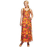 Isaac Mizrahi Live! Regular Floral Print Maxi Dress - A233325