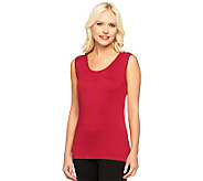 Linea by Louis DellOlio Posh Knit Scoop Neck Tank Sweater - A238525
