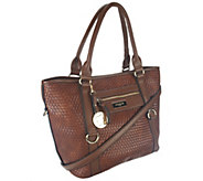 Liz Claiborne New York Basketweave Zip Pockets Tote - A251525