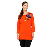 Quacker Factory Glamour Witch Hat V-neck Tunic - A257625