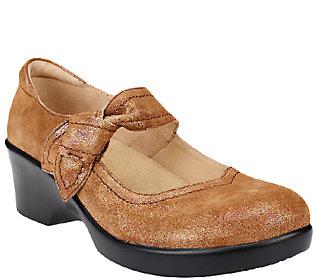 Alegria Leather Mary Jane Wedges - Ella