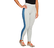 Denim & Co. Active Duo-Stretch Leggings w/ Side Panels - A259225