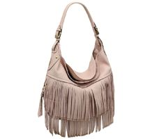 orYANY Kelsey Italian Leather Hobo with Fringe