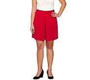 Susan Graver Peachskin Pull-On Split Skirt - A263825