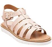 Clarks Artisan Multi-strap Leather Sandals w/ Adj. Strap - Lydie Kona - A264625