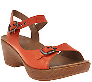 Dansko Leather Open-toe Sandals with Adjustable Straps - Joanie - A265925