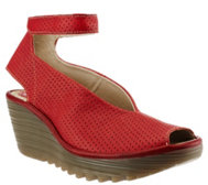 FLY London Perforated Wedge Sandals - Yala Perf