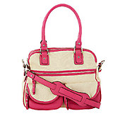 As Is Aimee Kestenberg Canvas Lucy Satchel with Front Pockets - A267325