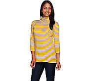 Liz Claiborne New York Essentials Striped Turtleneck Top - A267425