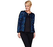 Bob Mackies Long Sleeve Jewel Neckline Sequin Jacket - A271125