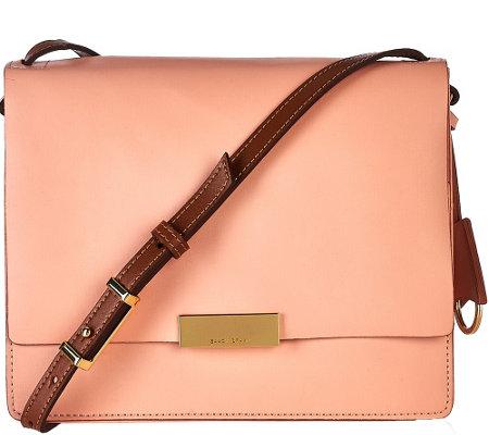 Isaac Mizrahi Live Whitney Leather Shoulder Bag —
