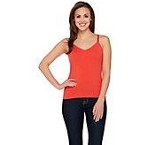 Susan Graver Weekend Essential Cotton Modal V-neck Cami - A274525