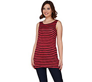 LOGO Layers by Lori Goldstein Striped Straight Hem Knit Tank - A275325