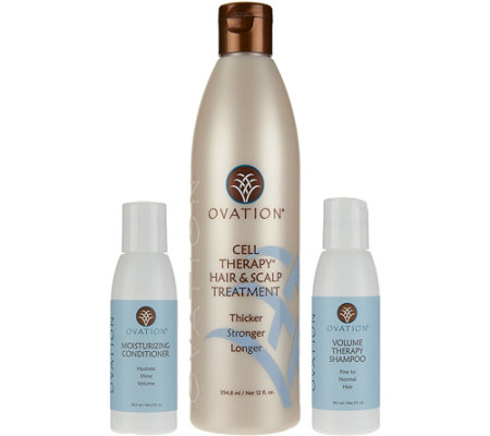 From Ovation, this Hair Moisture Cell Therapy System consists of three products to cleanse, treat, and moisturize hair. The moisture system is perfect for all hair .