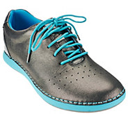 As Is Alegria Leather Lace-up Sneakers - Essence - A280625