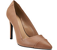 As Is H by Halston Leather Pointed-Toe High Heel Pumps - Lillian - A282225