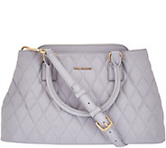 As Is Vera Bradley Quilted Leather Satchel - Emma - A282425