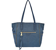 Aimee Kestenberg Genuine Leather Convertible Tote Bag- Cielo - A294925