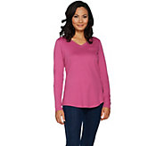 Isaac Mizrahi Live! Essentials Long Sleeve T-shirt with Pocket - A296825