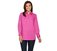 As Is Joan Rivers Boyfriend Shirt with Curved Back Seam - A300625