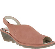 FLY London Leather Slingback Wedges - Palp - A304925