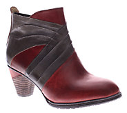 Spring Step LArtiste Leather Ankle Boots - Jazlyn - A334325