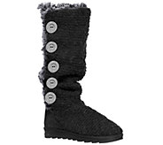 MUK LUKS Malena Crochet Button-Up Boot - A334625