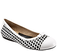 SoftWalk Woven Leather Flats - Naperville - A335425
