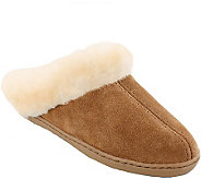 Minnetonka Leather Mule Slippers - Sheepskin Mule - A338525