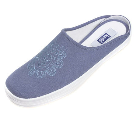 Keds Canvas Mules with Embroidery