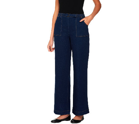 "Denim & Co. ""How Timeless"" Regular Stretch Pull-On Pants"