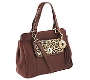 Isaac Mizrahi Live! Bridgehampton Leather Satchel - A234726