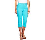 Liz Claiborne New York Petite Hepburn Denim Capri Pants - A252126