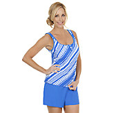 Ocean Dream Signature To Go Boldly Scoop Tankini with Shorts - A252526